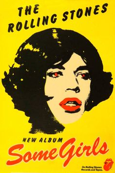 'Some Girls', Rolling Stones Promo poster Rolling Stones Album Covers, Rolling Stones Albums, Rolling Stones Logo, Rock Album Covers, Music Album Covers, Rock Posters, Band Posters, A Saucerful Of Secrets, Rock Vintage