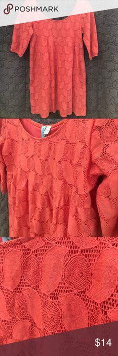 "Francesca's Coral Dress Sz Small Francesca's Coral Dress Size Small. Like New Condition! Waist 32"" Length 30"". 75% cotton 25% Nylon. Francesca's Collections Dresses Mini"