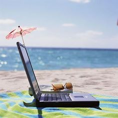 This is how I see myself working - laptop on the beach:) Small business success tips #success