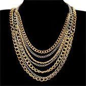 Layered Chain Fashion Necklace
