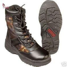 Utilisez des bottes Bottes de combat BW Bundeswehr Flecktarn - 45 -  Chaussures unbekannt (*