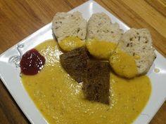 Zdravě jíst: Vegan svíčková s domácím knedlíkem Mashed Potatoes, Cooking, Breakfast, Ethnic Recipes, Fitness, Food, Morning Coffee, Meal, Kochen