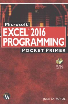 As part of the new Pocket Primer series, this book provides an overview of the major concepts to program Microsoft Excel. The focus of this book is on basic programming instructions for both Excel 201