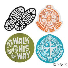Color Your Own Walk His Way Fuzzy Magnets - Oriental Trading