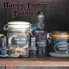 Decorate your Harry Potter party with home made potions!