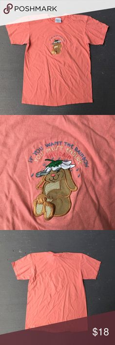 Vintage pink bunny rabbit shirt Vintage pink bunny rabbit shirt  Excellent condition  No stains no damages no holes  Fits perfect to size Shirts Tees - Short Sleeve