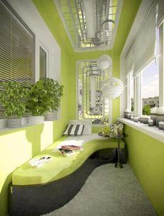 Futuristisch, Grün, Modern   Dieser Balkon Fällt Mit Seinen Neuen Ideen,  Dem Dynamischen