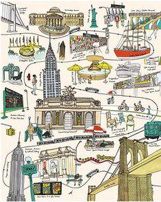brooklyn illustration by julia rothman( love brooklyn too)
