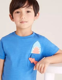 Buy the 3pk Cotton Patterned T-Shirts (2-7 Yrs) from Marks and Spencer's range. Living Proof Hair Products, Cami Set, Suit Shop, Brand Collection, Bra Shop, Girls Shopping, Baby Boy Outfits, Cool Kids, Kids Fashion