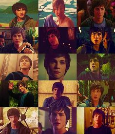 The many expressions of Percy Jackson.