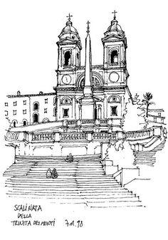 Rome, Scalinata della Trinita dei Monti by gerard michel, via Flickr