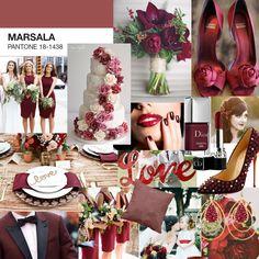 #Marsala Wedding Inspiration! #pantone #coloroftheyear