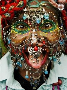 Davidson - Most Pierced Woman! Elaine Davidson, has 6005 body piercings are internal) WOW can you handle!Elaine Davidson, has 6005 body piercings are internal) WOW can you handle!