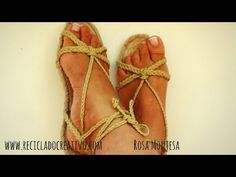 DIY Más de 20 sandalias con una sola suela.How to make 20 sandals with only one espadrilla sole - YouTube