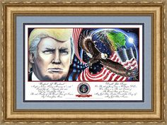 Presidential Portrait Framed Print featuring the painting Presidential Portrait Unafraid And Unashamed Print By Julian Raven by Julian Raven