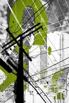 Urban Grunge Green Digital Art by Melissa Smith