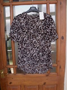 ad4176f284979 Next Pretty Brown Floral Short Sleeve High Neck Top Shirt Size 8 RRP 24  #fashion #clothes #shoes #accessories #womensclothing #topsshirts (ebay  link)