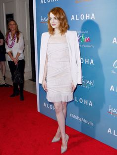 Emma Stone in Emilio Pucci at a premiere in West... - Chic as f*ck.