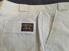 VTG RETRO LEVIS GOLDEN GATE SAN FRANCISCO Pin-Striped Pants Sportswear - 34 X 32