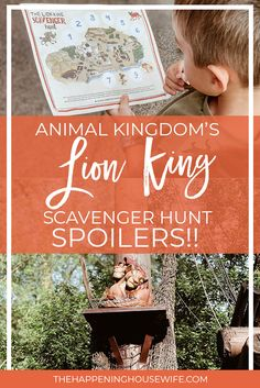 WDW Animal Kingdom Lion King Scavenger Hunt SPOILERS!!