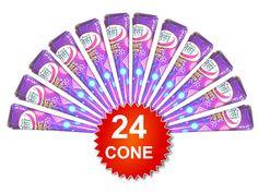 24 X Neha Henna Mehndi Cone Fresh Herbal Natural Mehndi Temporary Body Tattoo…