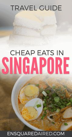 10 Of The Best Cheap Food In Singapore | Are you looking for a good food guide for Singapore? Click on this post for photos and guides for street food, snacks and delicious dishes like Laksa that you'll find in Hawker food courts and markets. #singapore #travel #singaporetravel