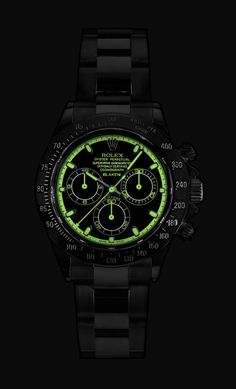 Rolex Daytona...{Illumination Display, Very Impressive!! I did not think A Rolex…