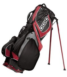 OGIO® - Grom II Stand Bag: Hit the course equipped with the latest OGIO golf technology like the ArcLite™ Stand System which deploys the legs in an arced motion for improved clearance and stability. Ogio Golf Bags, Electric Golf Cart, Golf Cart Accessories, T Shirt Company, Golf Outfit, Golf Carts, Golf Courses, Legs, Sports