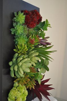 Artificial Succulent Garden In A Frame By CrissiDesigns On Etsy