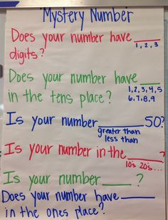 Mystery Skype - Mystery Number place value questions