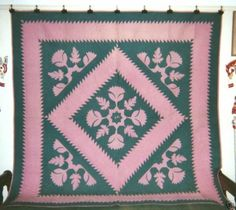 SAWTOOTH-DIAMOND-in-SAWTOOTH-FRAME-Quilt-82-x-82-from-Lancaster-Co-PA-c1920