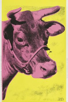 Andy Warhol, Cow (pink), 1989-1990, michael lisi / contemporary art
