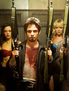 Rose McGowan, Freddy Rodriguez & Marley Shelton in Planet Terror