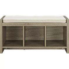 Storage Bench With Cushion, Entryway Bench Storage, Cubby Storage, Bedroom Storage, Storage Benches, Entry Bench, Bookcase Bench, Mudroom Benches, Cubby Bench