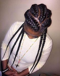 Braided Hairstyles For Black Women Cornrows, African Braids Hairstyles, Braids For Black Hair, Black Women Hairstyles, Different Braid Hairstyles, Cool Braid Hairstyles, Girl Hairstyles, Pretty Hairstyles, Teenage Hairstyles