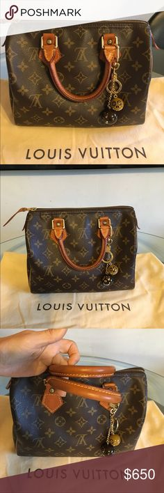 Louis Vuitton Speedy 25 Authentic Louis Vuitton Speedy 25. Wonderful vintage condition. (Does not include Jack and Lucie Charm) Comes with lock, key and dustbag! No trades. Please see additional listing for more photos. Louis Vuitton Bags