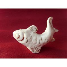 Soviet Vintage Porcelain Fish Figurine Made in USSR in 1980s. (€13) ❤ liked on Polyvore featuring home, home decor, fish home decor, porcelain figurines, fish figurine and porcelain figure