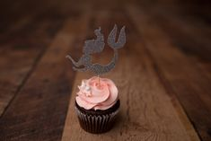 Mermaid Cupcake Toppers  (12 Pieces) {COLOURS CUSTOMIZABLE} -  Mermaid Party, Under the Sea Party, Cupcake Decor, Photo Props by CutPartySupplies on Etsy Mermaid Cupcake Toppers, Mermaid Cupcakes, Under The Sea Party, Best Part Of Me, Photo Props, Party Supplies, Colours, Paper, Unique Jewelry