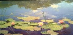 Nymphs at Play by Dennis Perrin Oil ~ x Landscape Paintings, Landscapes, Nymphs, Water Lilies, Sell Your Art, Online Art, Still Life, My Arts, Lily