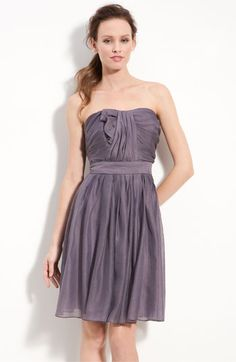 Suzi Chin for Maggy Boutique Strapless Draped Organza Dress available at Nordstrom - sale $99