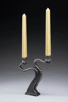 Wrought Iron Candle Holders, Candlestick Holders, Candlesticks, Candleholders, Metal Worx, Blacksmith Forge, Metal Art Projects, Metal Art Sculpture, Iron Decor