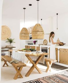 〚 Lovely summer villa with views on the site of old farmhouse in Ibiza 〛 #interior #design #home #decor #idea #Inspiration #cozy #living #natural #wood #beige #white #summer White Furniture, Kitchen Furniture, Furniture Making, Outdoor Furniture Sets, Rustic Kitchen, Kitchen Decor, Rustic Farmhouse, Ibiza, Hacienda Style