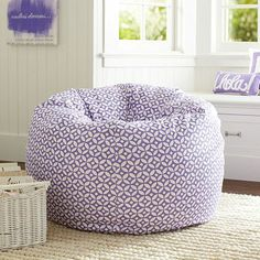 Petal Dot Purple Beanbag // love this bright petal dot print