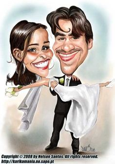 Wedding Invitation Caricature by caricaturas, via Flickr