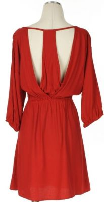 The back of the Red Hots Dress (at Adabelles Boutique). Fabulous Gameday dress for Ole Miss, Bama, UGA, & Arkansas Ladies.
