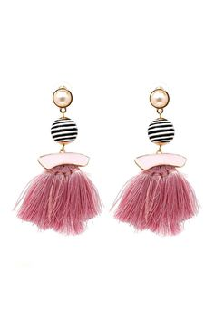 Tassel Fringe Drop Earrings FREE WORLDWIDE SHIPPING ON ALL ORDERS
