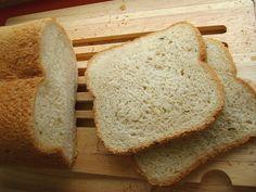 Chleb z czosnkiem i miętą (wypieki z automatu)