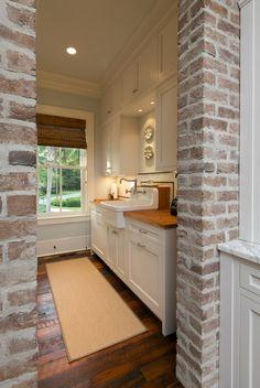 I want brick somewhere in my kitchen design....Jill Frey Kitchen Design, Charleston, SC.Hello Anon. I didn't...