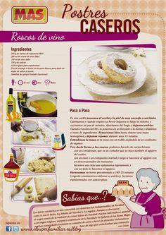Roscos de Vino. #Recetas #reposteria   Fuente: elsuperfamiliar.es