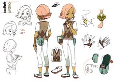 Ilima Concept Art - Pokémon Sun and Moon Art Gallery - Pokemon Oc Pokemon, Pokemon Sketch, Cute Pokemon, Game Character Design, Character Concept, Sun And Moon Game, Game Concept Art, Cartoon Art Styles, Anime Poses